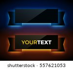vector glowing ribbons on dark... | Shutterstock .eps vector #557621053