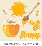 vector illustration set  of... | Shutterstock .eps vector #557621773