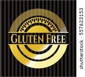 gluten free gold emblem | Shutterstock .eps vector #557623153