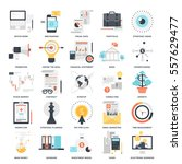 vector set of business and... | Shutterstock .eps vector #557629477