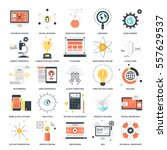 vector set of seo and... | Shutterstock .eps vector #557629537