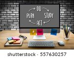 pdsa   plan do study act   ... | Shutterstock . vector #557630257
