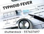 typhoid fever medical concept   ... | Shutterstock . vector #557637697