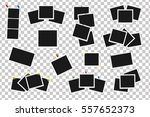 set of square vector frames on... | Shutterstock .eps vector #557652373