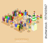 shopping center and boutique... | Shutterstock .eps vector #557653567