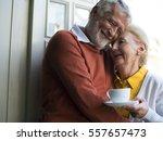 senior couple daily lifestyle... | Shutterstock . vector #557657473