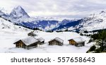 the viewpoint of the alps... | Shutterstock . vector #557658643