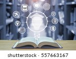 education technology concept... | Shutterstock . vector #557663167