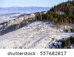 kasprowy wierch winter snow ... | Shutterstock . vector #557682817