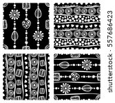 set of seamless vector pattern. ... | Shutterstock .eps vector #557686423