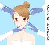 beauty cartoon woman... | Shutterstock .eps vector #557688907