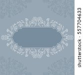 invitation card with floral... | Shutterstock .eps vector #557704633