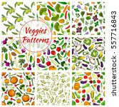 vegetables pattern of... | Shutterstock .eps vector #557716843
