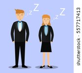 business man and woman... | Shutterstock .eps vector #557717413