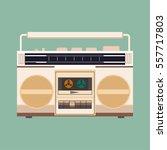 retro radio icons | Shutterstock .eps vector #557717803