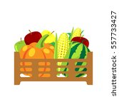 Fruits And Vegetables In Wicke...