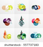 collection of christmas sale... | Shutterstock .eps vector #557737183