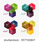 set of infographic templates... | Shutterstock .eps vector #557742847