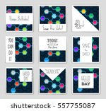 abstract vector layout...   Shutterstock .eps vector #557755087