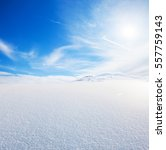 snow hill and blue sky | Shutterstock . vector #557759143