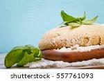 fresh dough ready for baking | Shutterstock . vector #557761093