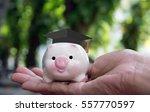 save money for student loans... | Shutterstock . vector #557770597