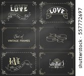 vector set of chalk vintage... | Shutterstock .eps vector #557772697