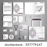 vintage corporate identity... | Shutterstock .eps vector #557779147