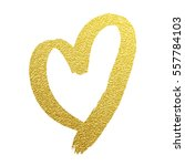 Heart Gold Foil Glitter Vector...
