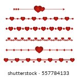 border vector heart. symbol... | Shutterstock .eps vector #557784133