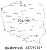 map of poland   monochrome... | Shutterstock . vector #557797957