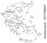 map of greece   monochrome... | Shutterstock . vector #557798047