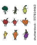 characters of happy baby veggie ... | Shutterstock .eps vector #557814463