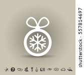 pictograph of christmas ball | Shutterstock .eps vector #557814697
