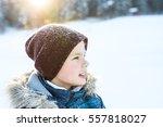 Portrait Of A Boy In Winter...