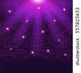 falling sparkling purple... | Shutterstock .eps vector #557825653