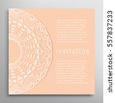invitation or card template... | Shutterstock .eps vector #557837233