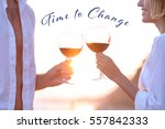 young couple drinking red wine...   Shutterstock . vector #557842333