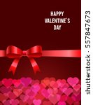 valentines day card. vector... | Shutterstock .eps vector #557847673