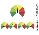 speedometer icons  easy  normal ... | Shutterstock .eps vector #557851603
