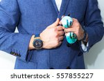 fashion close up image of men's ... | Shutterstock . vector #557855227