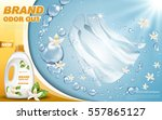 laundry detergent ad with... | Shutterstock .eps vector #557865127