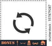 recycle arrow icon flat. simple ... | Shutterstock .eps vector #557879287