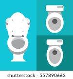 toilet icons | Shutterstock .eps vector #557890663