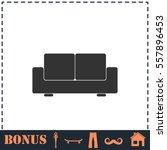 sofa icon flat. simple vector... | Shutterstock .eps vector #557896453