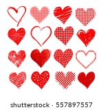 vector collections of grunge... | Shutterstock .eps vector #557897557