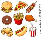vector illustration of food set | Shutterstock .eps vector #557899093