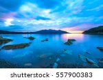wonderful sunset on enfola... | Shutterstock . vector #557900383