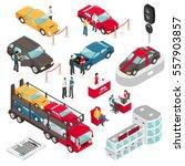 car dealer luxury vehicles sale ... | Shutterstock .eps vector #557903857