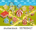 amusement park travel circus... | Shutterstock .eps vector #557905417